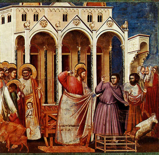 The Cleansing of the Temple by Giotto di Bondone