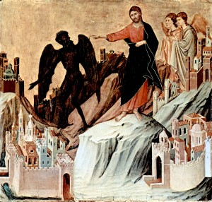 Christ tempted by Satan
